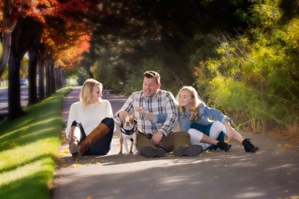 Family with Dog.