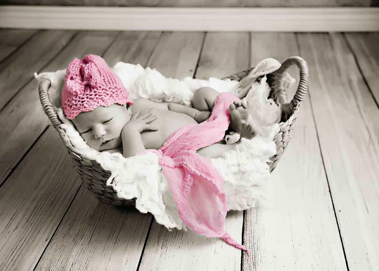 Baby in Basket.
