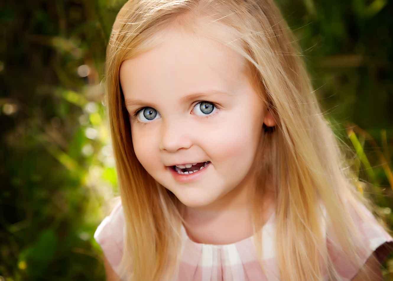 Blue Eye Little Girl.