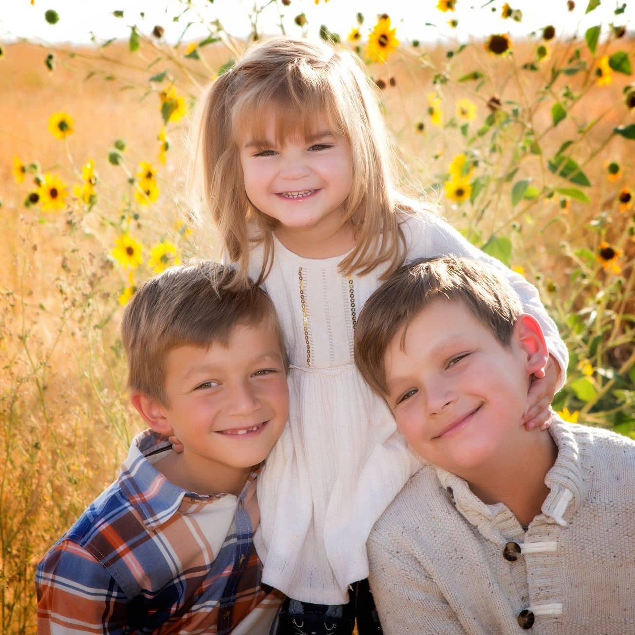 Kids in Sunflowers.