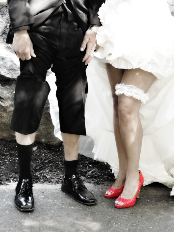 Fun wedding image of shoes