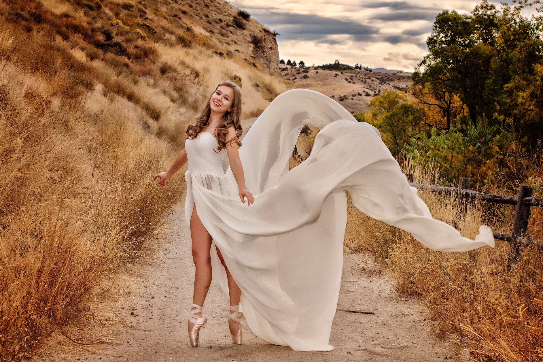 Ballerina in Boise Foothills.