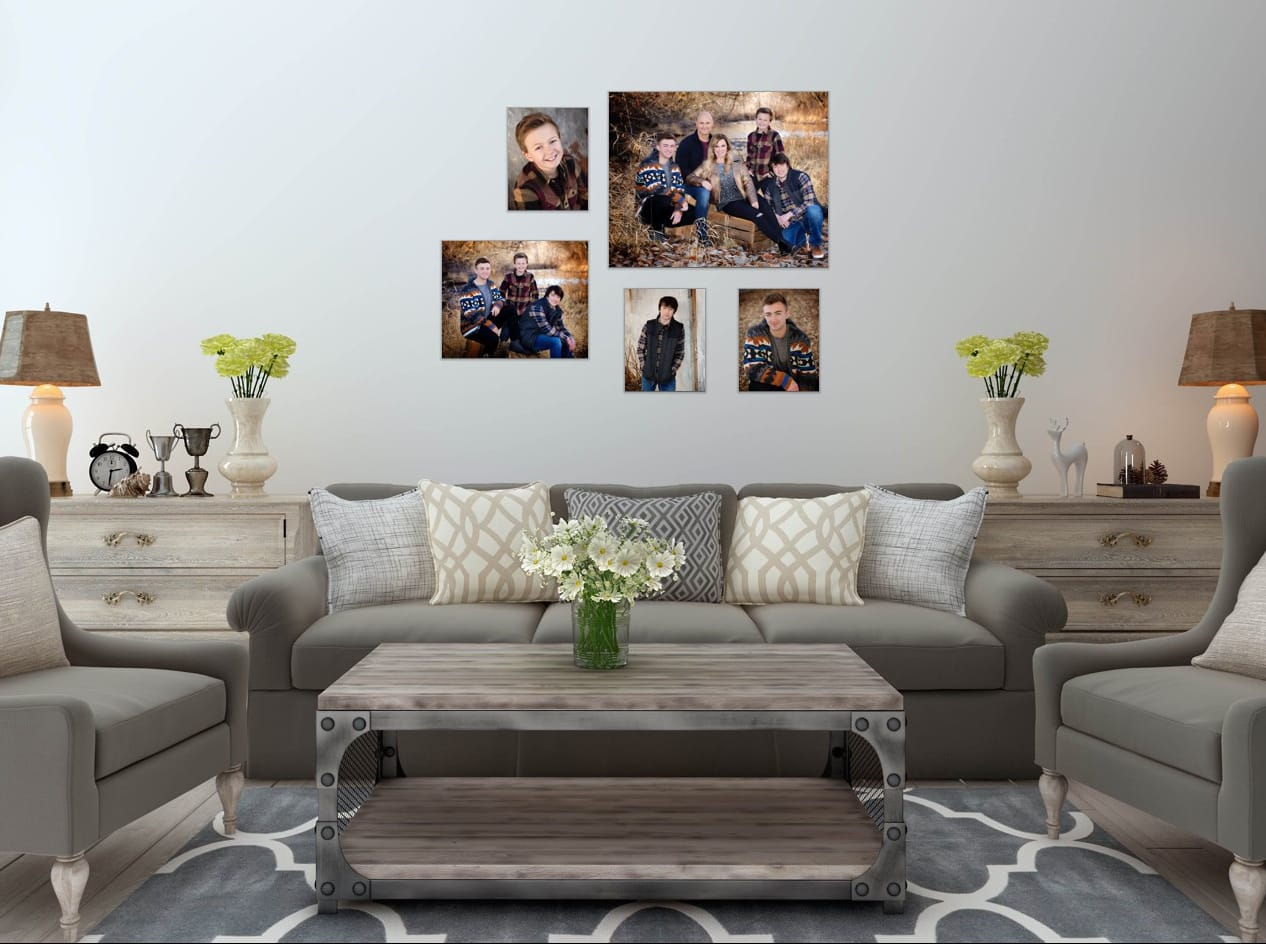 Family Room Picture Collage.