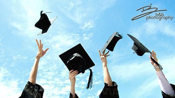 Graduation caps with logo